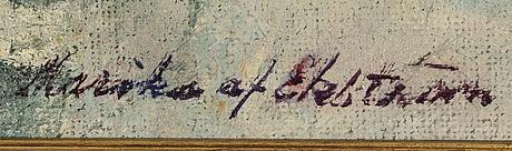 Marika af ekstrÖm, olja på pannå, signerad.