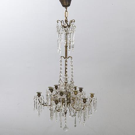 Ljuskrona omkring 1900.