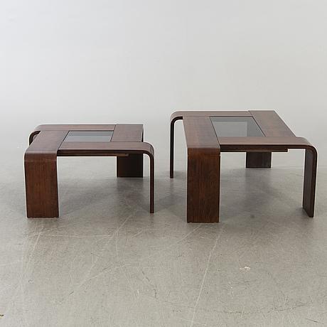 Percival lafer, brasilien, möjligen, soffbord, 2 st.1970/80-tal.