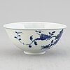 A blue and white bowl, qing dynasty, late 19th century, with guangxu mark to the base.