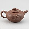 A chinese yixing teapot with cover, 20th century.
