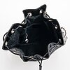 Gucci, a black nylon handbag.