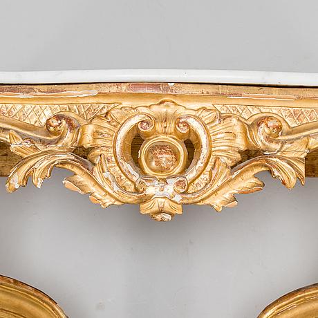 Konsolbord, sverige, 1700-talets senare hälft.