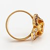 "An 18k gold ring ""karin månsdotter"" with citrines and diamonds ca 0.26 ct in total. ofelia jewelry, helsinki 1998."