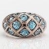 An 18k white gold ring with topazes. ofelia jewelry, helsinki.