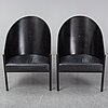 Philippe starck, a pair of 'costes' armchairs, aleph, driade, italy.