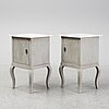 A pair of bedside tables, first half of the 20th century.