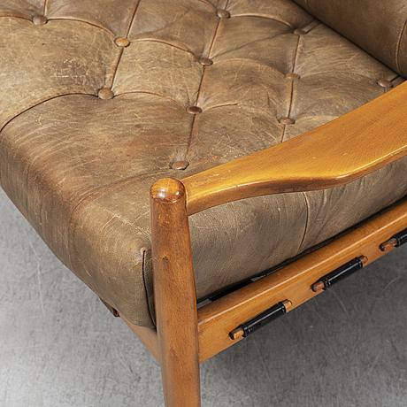 """Ingemar thillmark, fåtöljer ett par, """"läckö"""", ope-möbler, 1900-talets andra hälft."""