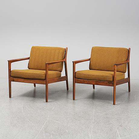 "Folke ohlsson, fåtöljer ett par, ""usa 75"", dux, 1960-tal."