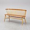 """Pinnsoffa/soffa, """"florett"""", modell 150, bröderna wigells stolfabrik ab, omkring 1900-talets mitt."""