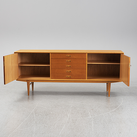 A second half of the 20th century teak veneered sideboard.