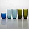 A set of 12 mid 20th century glass tableware by finnish designers.