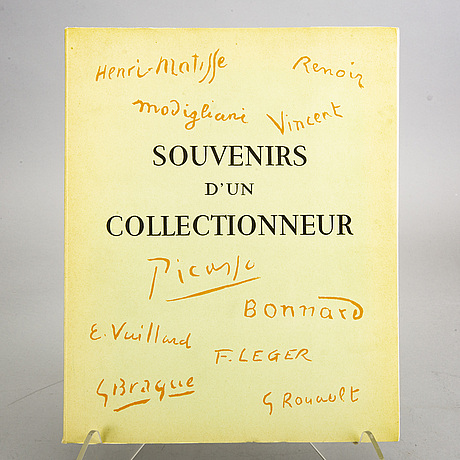 "Book, ""souvenirs d´un collectionneur"",  andre level. alain c. mazo. paris 1959."