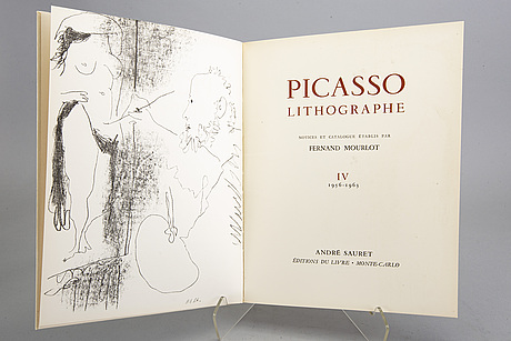 "Book, ""picasso lithographe iv 1956-63"", fernand mourlot,  andre sauret, monte carlo."