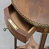 A swedish early 20th century gustavian style mahogany side table,