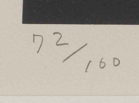 Sadamasa motonaga, litografi, numrerad 72/100 samt signerad.
