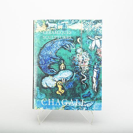 """BÖcker, 3 st, """"chagall - le plafond de l'opera"""", """"chagall - le cirque d'izis"""" samt """"chagall - ceramiques, sculptures""""."""