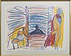 Erland cullberg, crayon on paper, signed.