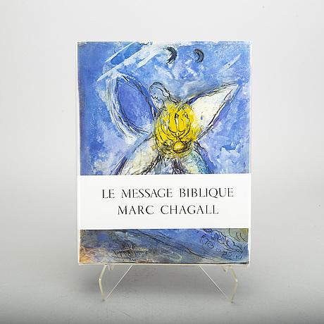 """BÖcker, 3 st, marc chagall """"le message biblique"""", """"sculptures"""" samt """"le plafond de l'opera""""."""