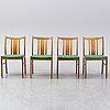Four second half of the 20th century teak chairs.