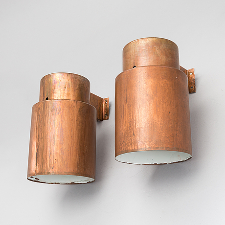 Lisa johansson-pape, a pair of wall lamps type 17-033 by orno, finland.