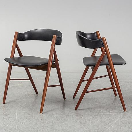 Four 1960s teak chairs.