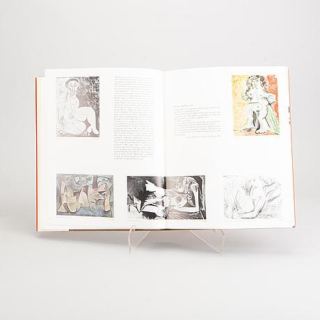 """Two book, pablo picasso """"toros toreros"""", """"metamorphoses et unité""""."""