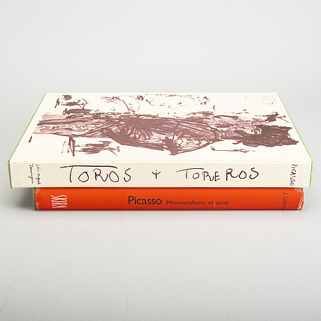 """BÖcker, 2 st, pablo picasso """"toros toreros"""", """"metamorphoses et unité""""."""