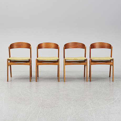 Four 1960s chairs.