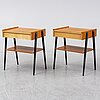 A pair of 1950's/1960's teak bedside tables by carlström & co.