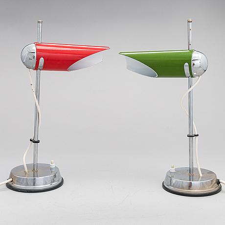 A pair of 1960's table lamps.