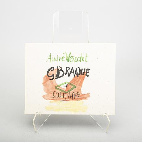 """A set of six books, georges braque """"le solitaire"""",  och bernad  buffet """"oevre gravé""""."""