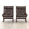 "Ingmar relling, fåtöljer, ett par, ""siesta"" westnofa furniture, norge, 1900-talets andra hälft."
