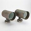 VÄgglampor, ett par, koppar, fagerhult belysning, 1900-talets mitt.