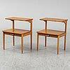 SÄngbord, ett par, svenska möbelfabrikerna, nr 80, 1950-/60-tal.