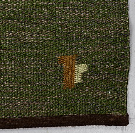 "Erik lundberg, a carpet, ""korall"", flat weave, ca 199 x 138-140 cm, signed v."