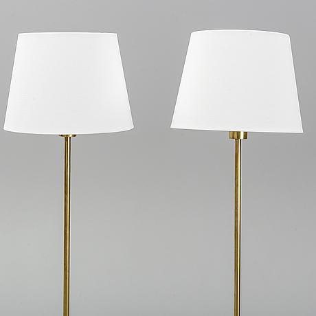 Nordiska kompaniet, golvlampor, ett par, 1960-/70-tal.