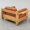 "Yngve ekstrÖm, fåtölj, ur serien ""kontrapunkt"", swedese möbler ab, modellen lanserad 1968."