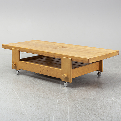 "Yngve ekstrÖm, soffbord, ur serien ""kontrapunkt"", swedese möbler ab, modellen lanserad 1968."
