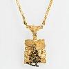 "BjÖrn weckstrÖm, collier ""blommande mur"", 18k guld, turmalinkristaller. lapponia 1970."