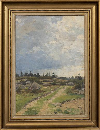 Johan tirÉn, a signed oilpainting on canvas.