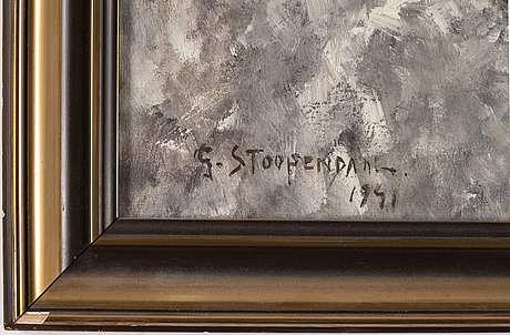 Georg stoopendaal, oil on canvas, signed g. stoopendaal and dated 1941.