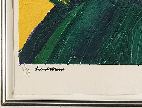 Bengt lindstrÖm, etching with carborundum, signed lindström and numbered 43/99.