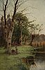 Creswick boydell, oil on relined canvas, signed creswick boydell.