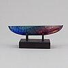Bertil vallien, a glass sculpture of a boat, kostya boda, sweden.