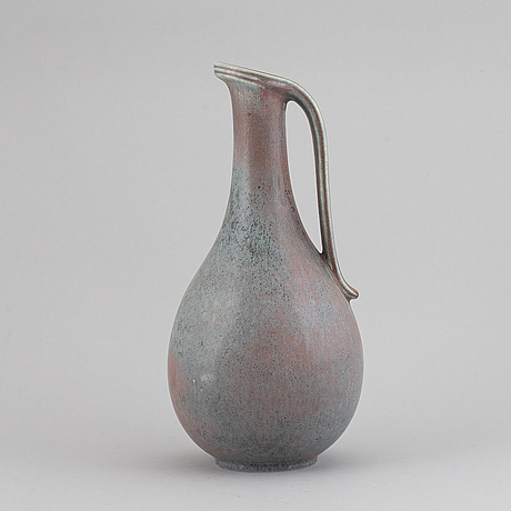 Gunnar nylund, a stoneware pot, rörstrand, signed.