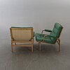 """Bruno mathsson, a pair  of easy chairs """"ingrid"""" for dux."""