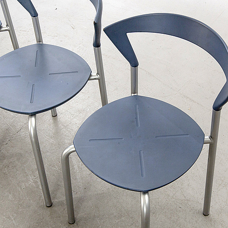 A set of nine chairs/garden chairs by bent krogh for pelikan design denmark 1980:s.