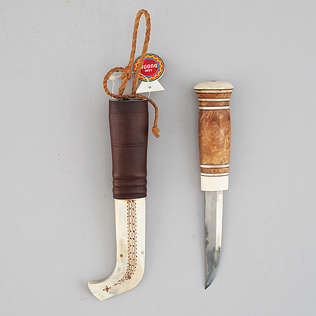 Samekniv, renhorn, signerad lars raidmark.