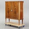 A mid 20th century mahogany veneered cabinet, bodafors.